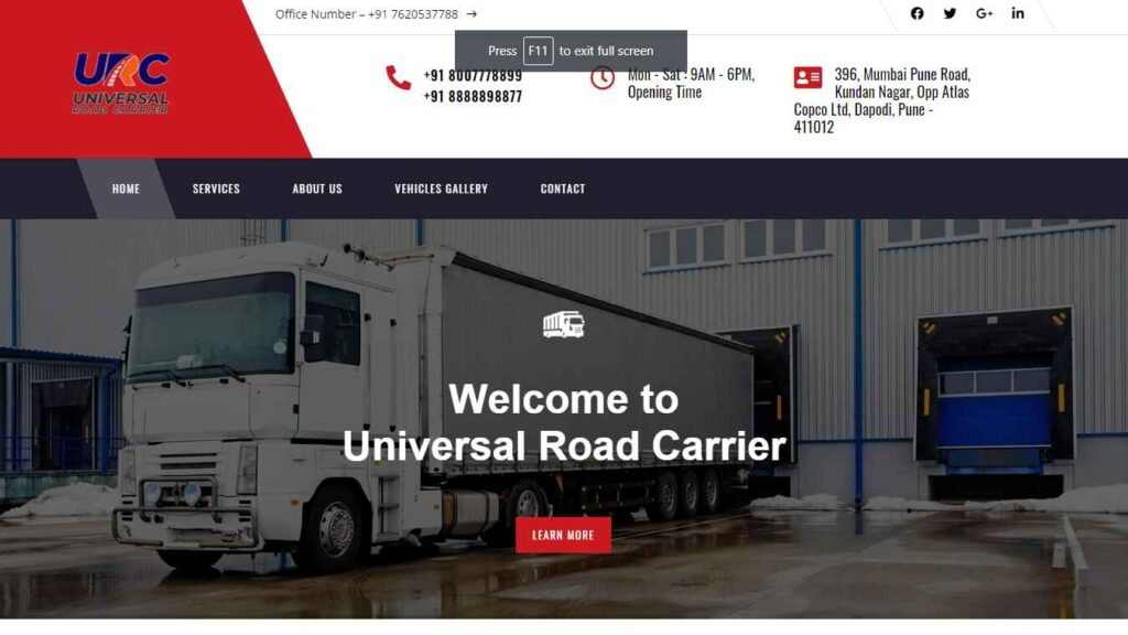 universal road carrier